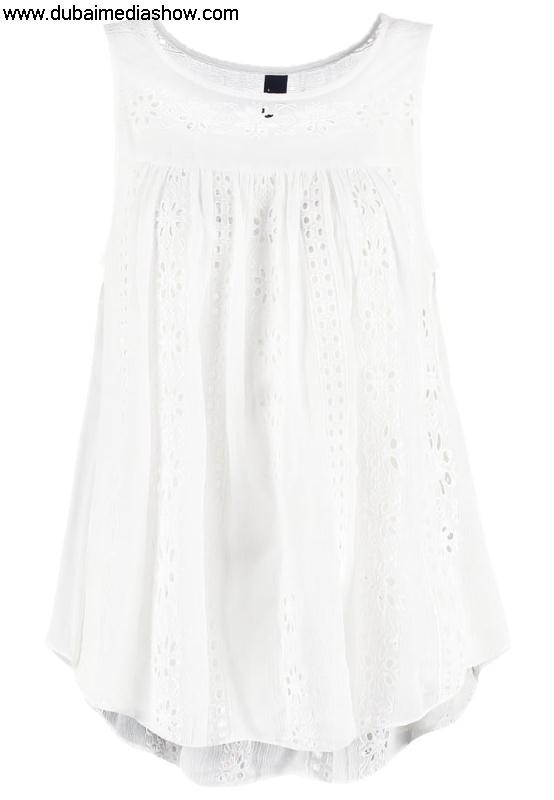 GAP Women Blouses  Tunics Vest optic - Toned dresses whitegap toddlerOfficial AIKNRS3569