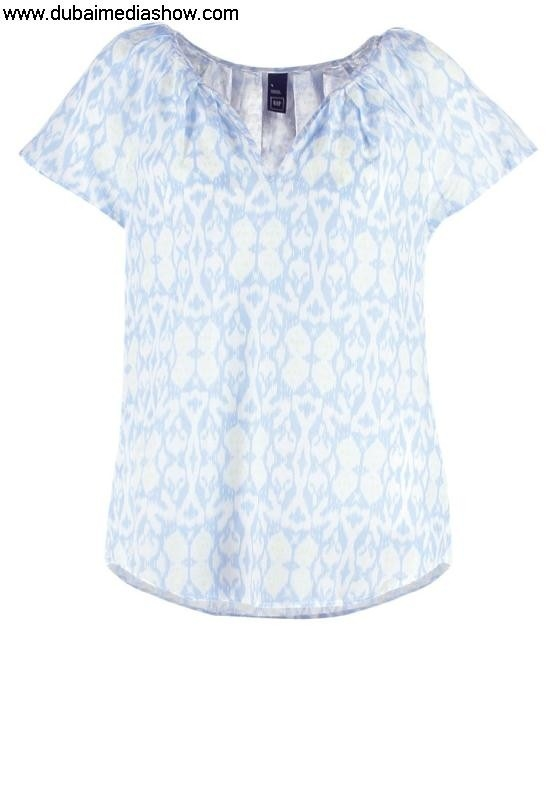 GAP Women Blouses  Tunics FLOUNCE - Print T-shirt - tallhigh bluegap guarantee quality dresses Wise DEFLMP3567
