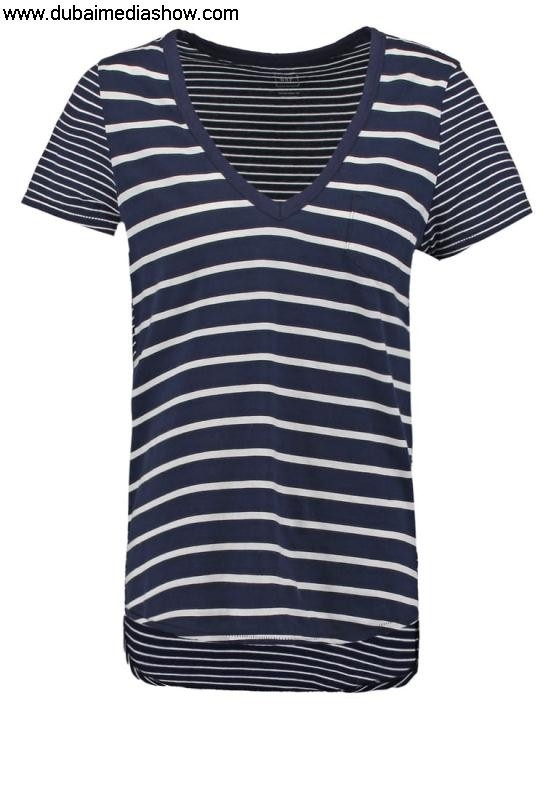 GAP Women Tops Print Eminent T-shirt - indigoGAP brands true T Shirtstop DEFIJOSYZ6